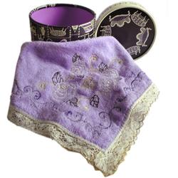 安娜苏原装限量版紫色绣花巾