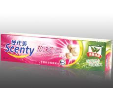 现代美清香绿茶珍珠亮白牙膏