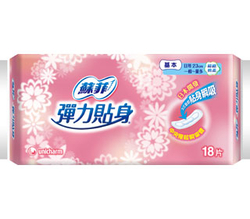 苏菲弹力贴身卫生巾(日用一般型)
