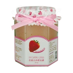 棉花糖草莓去角质果酱