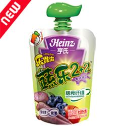 亨氏乐维滋苹果蓝莓紫胡萝卜紫薯果汁泥