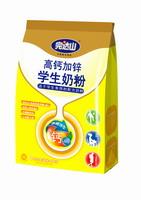 完达山高钙加锌学生奶粉