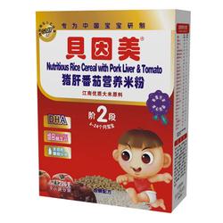 贝因美猪肝番茄营养米粉