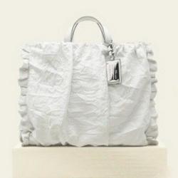 Dolce & Gabbana白色褶皱大肩包