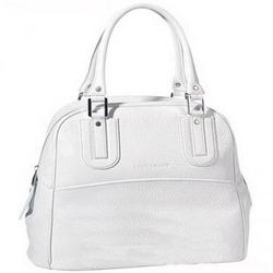 longchamp白色手提袋