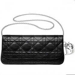 DiorLADY DIOR黑色车缝小手袋