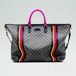 古驰,古姿,古琦双G图案人造革大号购物袋