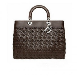 Dior巧克力色大手袋