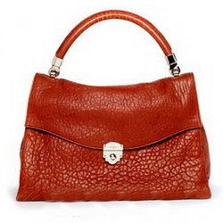 YSL,伊夫圣罗兰橘红色手提包