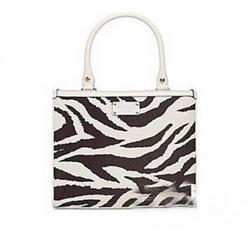 Kate Spade斑马纹饰手提包