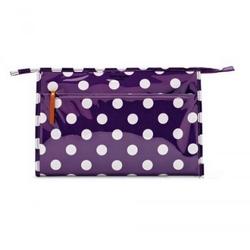 Kate Spade紫色圆点漆皮手包