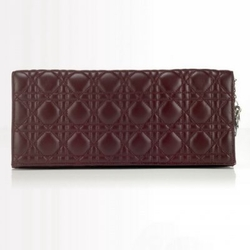 Dior深紫红色羊皮折叠式手包