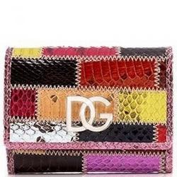 Dolce & Gabbana拼接蛇皮零钱包