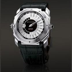 Bvlgari18k白金男士尊贵腕表