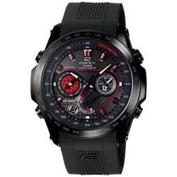 CASIO高端六局电波太阳能男士黑钢手表