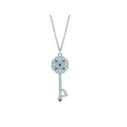 Tiffany & Co八边形钥匙吊坠