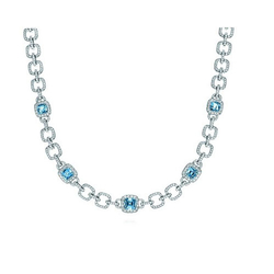 Tiffany & Co海蓝宝石项链