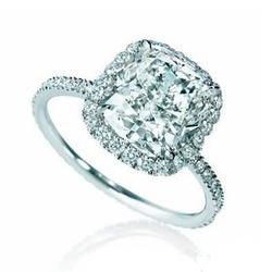 HarryWinston微镶钻石铂金戒指