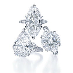HarryWinston经典钻石戒指