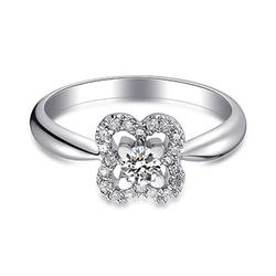 DERIER白色18K金钻石镶嵌戒指