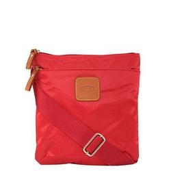 brics红色X-Bag纹理信封肩包