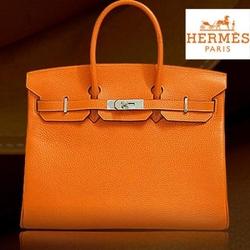 HermesBIRKIN铂金包35CM橙色牛皮顶级手袋