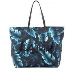 LANVIN蓝色棕榈叶印花时尚肩包