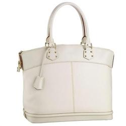 Louis Vuitton白色LOCKIT GM压花Logo手提包