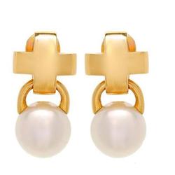 MIKIMOTO全新正品   18K黄金100%纯正人工培养的南海珍珠耳环