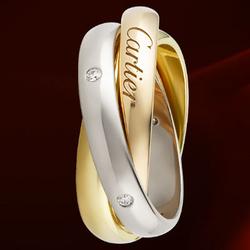 CartierTRINITY三色金戒指