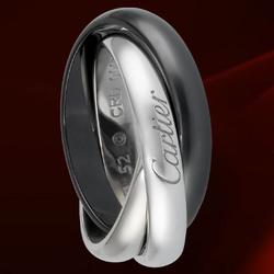 CartierTRINITY黑与白戒指,小型款