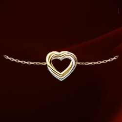 CartierTRINITY之心三色金手链
