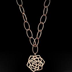 Piaget玫瑰花图案垂饰