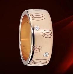 Cartier双C图案戒指,大型款