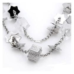Lalique,莱俪正品法国产   手工制造925银100%纯正晶体项链