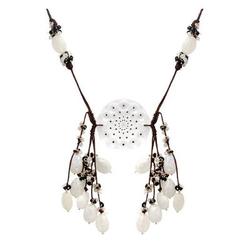Lalique,莱俪全新正品法国产   手工制造碱金属100%纯正晶体项链