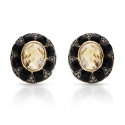 fpj正品  高质量14K黄金3.95克拉总重100%纯天然钻石耳环