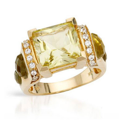 fpj正品  高质量14K黄金6.95克拉总重100%纯正石英戒指