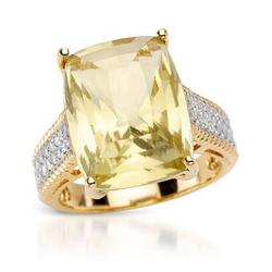 fpj正品  高质量14K黄金12.05克拉总重100%纯正石英戒指