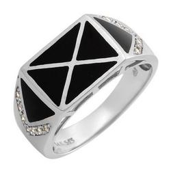 fpj正品 高质量14K白金0.10克拉总重100%纯正玛瑙戒指