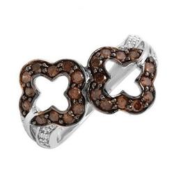 fpj全新正品  高质量10K白金1.00克拉总重100%纯天然钻石戒指