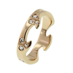 Georg JensenFUSION系列镶钻黄金外圈戒指