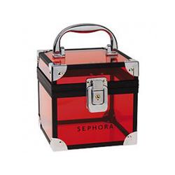 丝芙兰红色透明化妆箱