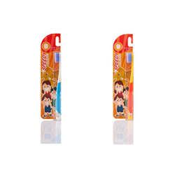 泰国双莲双尖螺旋软毛儿童牙刷