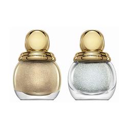 迪奥圣诞限量立体珠光甲油组合 金色美甲底油&水晶珍珠贴片