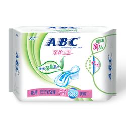 ABC个人护理亲柔立围夜用轻透薄网感棉柔表层卫生巾