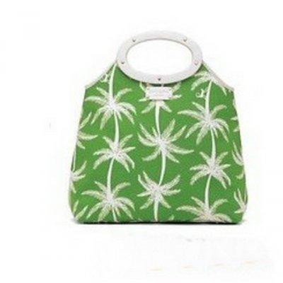 凯特·丝蓓绿色印花手提包
