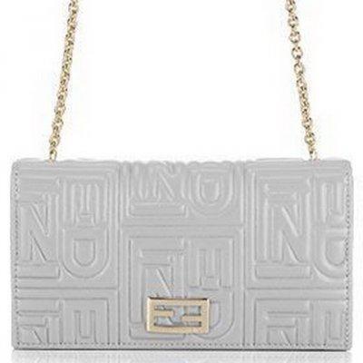芬迪链式带品牌标志钱包
