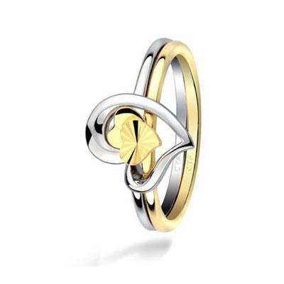周大福/Chow Tai Fook18k两色金戒指