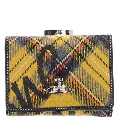 韦斯特伍德 黄色/Vivienne Westwood黄色苏格兰方格logo钱包